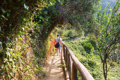 Coastal hiking trail in Monterosso, Cinque Terre, Italy Stock Photography