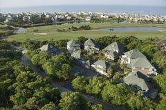 Coastal homes. stock images