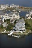 Coastal homes. Royalty Free Stock Images