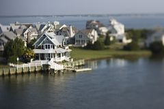 Coastal homes. Stock Photography