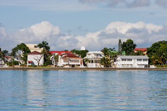 Coastal Homes in Belize Stock Photography