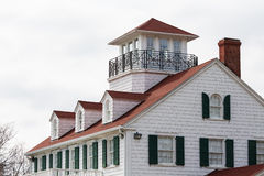 Coastal House with Dormers and Widows Walk Stock Image