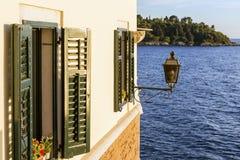 Coastal house in Rovinj. Royalty Free Stock Photos