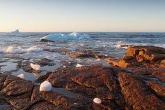 Coastal Icebergs Stock Photos