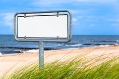 Coastal Information Board Stock Photo