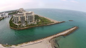 Coastal inlet in Boca Raton, Florida stock video