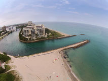 Coastal inlet in Boca Raton, Florida Stock Photography