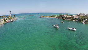 Coastal inlet in Florida aerial view stock video