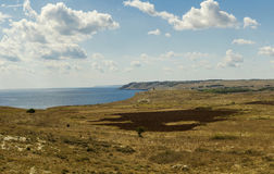 otranto coast landscape panorama  Stock Images