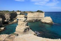 Coastal island and landscape of Salento Peninsular, Italy Royalty Free Stock Photo