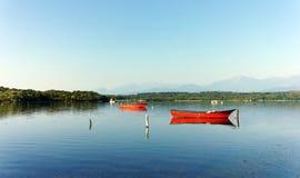 Coastal lagoon in  Corsica island Stock Photos