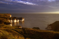 Coastal Landscape. View from clifftop at Flamborough Royalty Free Stock Photography