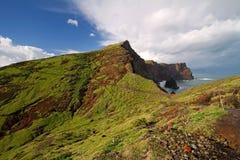 Coastal landscape. Dramatic coastline landscape on Madeira Stock Photography