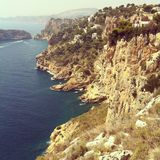 Coastal Landscape. Warm costal landscape shot taken in Spain Royalty Free Stock Photos