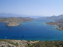Coastal landscape. Cretan coastal landscape near elounda Stock Photo