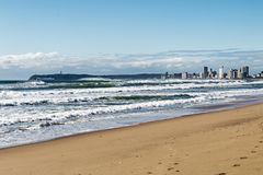 Coastal Landscape Against Blue Sky in Durban South Africa Royalty Free Stock Photography