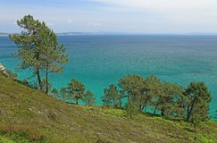 Coastal landscape at the Atlantic Ocean, Brittany, France Stock Image