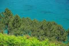 Coastal landscape at the Atlantic Ocean, Brittany, France Stock Photo