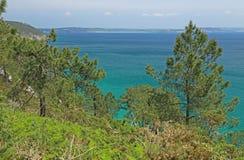 Coastal landscape at the Atlantic Ocean, Brittany, France Royalty Free Stock Image