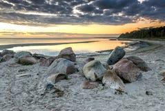 Coastal landscape, Baltic Sea, Latvia Royalty Free Stock Photography