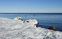 Coastal landscape of the Baltic Sea by winter Royalty Free Stock Photography