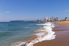 Coastal Landscape Beach Ocean Blue Sky and City Skyline Stock Photography
