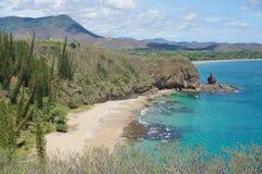 Coastal landscape beach and rock New Caledonia Stock Photography