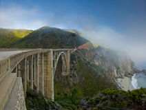 Coastal landscape with Bixby Bridge Royalty Free Stock Image
