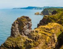 Coastal landscape Bretagne, France Stock Images