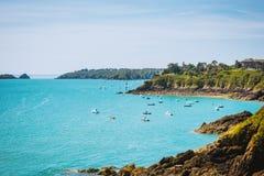 Coastal landscape Bretagne, France Stock Photos