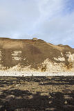 Coastal landscape with bunker Royalty Free Stock Photo