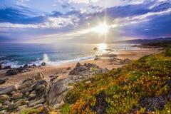 Coastal landscape on Corse, France, Europe. Royalty Free Stock Images