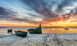 Coastal landscape at dawn, Baltic Sea, Europe Stock Photos