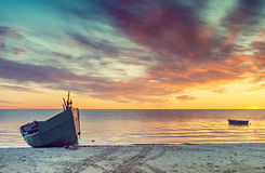 Coastal landscape at dawn, Baltic Sea, Europe Royalty Free Stock Images