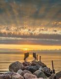 Coastal landscape at dawn, Baltic Sea, Europe Stock Photos