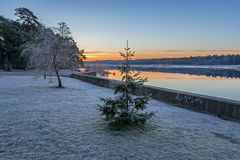 Coastal landscape at dawn Stock Photo