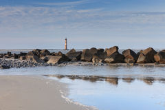 Coastal Landscape Folly Beach Charleston South Carolina Stock Image