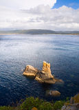 Coastal landscape in Galicia, Spain. Royalty Free Stock Images