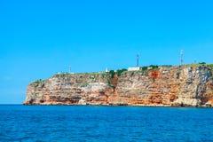 Coastal landscape of Kaliakra headland Stock Images