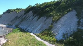Coastal Landscape at Kap Arkona on Ruegen Island baltic Sea. Coastal Landscape at Kap Arkona on Ruegen Island at baltic Sea,Mecklenburg Western Pomerania,Germany stock video footage
