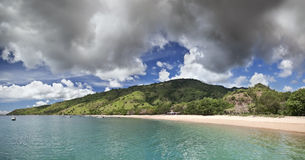Panoramic coastal landscape, Komodo island - Indonesia Stock Photography