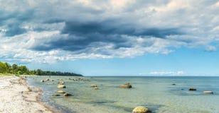 Coastal landscape in Kurzeme region of Latvia, Europe Royalty Free Stock Photography