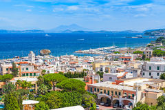Coastal landscape of Lacco Ameno resort. Ischia. Island, Italy. Mediterranean Sea coast Stock Photography