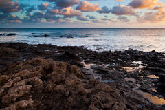 Coastal landscape from Lanzarote island, Spain. Stock Images