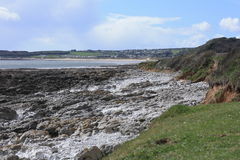 Coastal landscape. Low tide coastal landscape in the Gower,  South Wales Stock Images