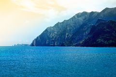 Coastal landscape in Madeira in the sprigtime. Portugal Stock Photography