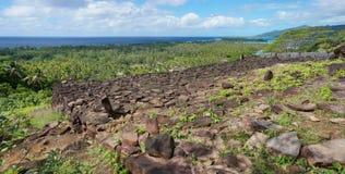 Coastal landscape marae Huahine French Polynesia Stock Photo