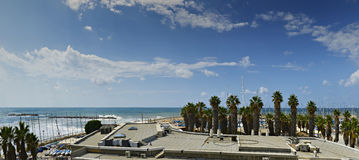 Coastal landscape and marina of Tel-Aviv, Israel Royalty Free Stock Photography