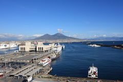 Coastal landscape of Napoli Stock Photography