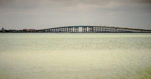 Coastal landscape near padre island texas stock images